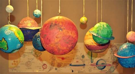 How To Make Paper Planets - make papier m 226 ch 233 planets planets paper mache and spaces