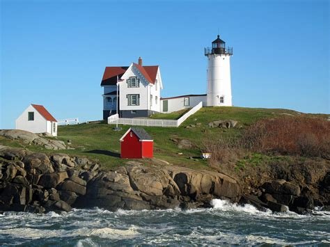 House Plans Online Nubble Lighthouse One Photograph By Barbara Mcdevitt