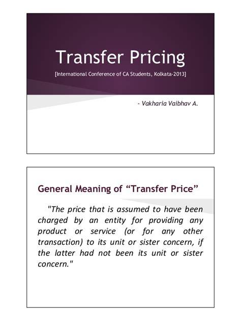 domestic transfer international domestic transfer pricing presentation ppt