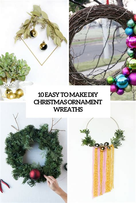 diy wreaths with ornaments 10 easy to make diy ornament wreaths shelterness