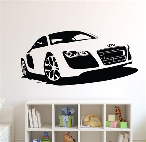 Car Wall Decor by Large Car Audi Sports Car Wall Decal Home Decor Racing