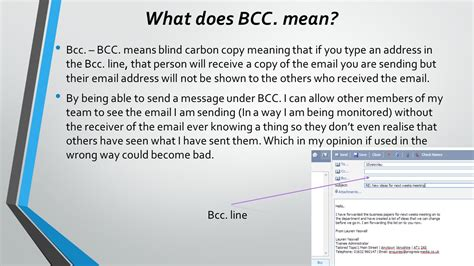 in bcc what does cc and bcc in email course ict in