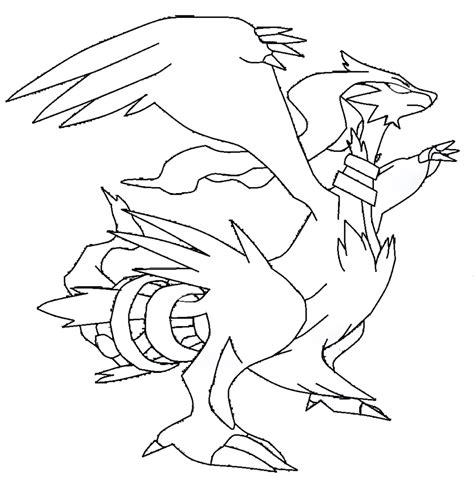 pokemon coloring pages reshiram reshiram template lineart by shadowxmephiles on deviantart