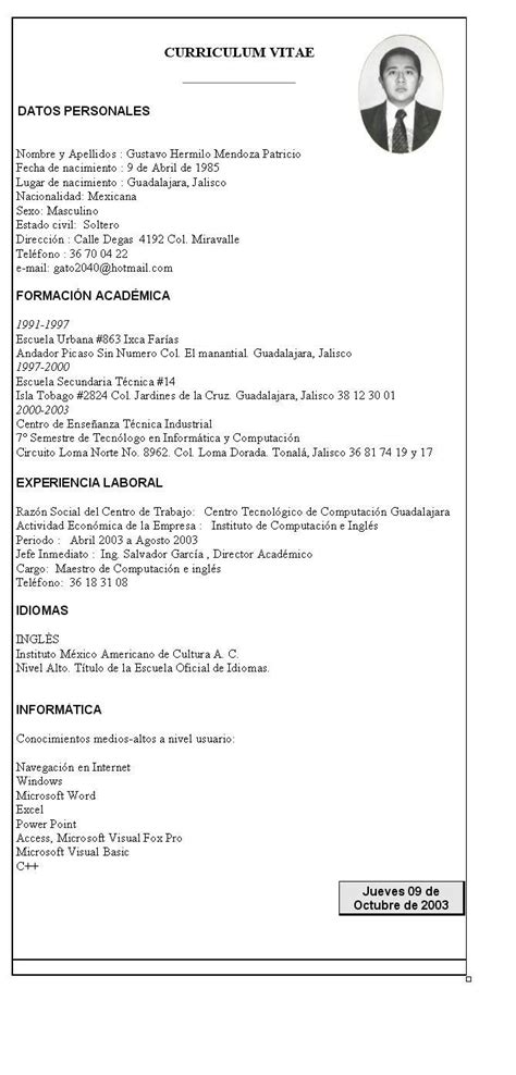 Modelo Curriculum Taringa Modelo De Curriculum Vitae Taringa Modelos De Cv Gratis 47 Modelos De Curriculum Vitae Para