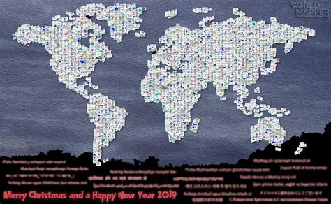 mappy christmas  worldmapper