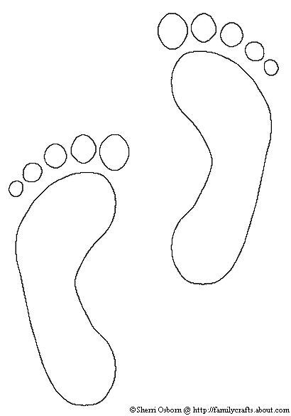 footprint template printable how to make footprint crafts coloring to and