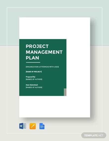 sample project management plan templates  ms