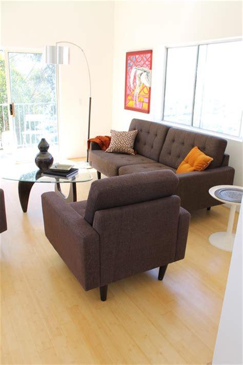 mid century modern style  noguchi coffee table modern living room los angeles