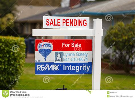 remax real estate homes for sale home values agents remax integrity for sale sign pending editorial stock