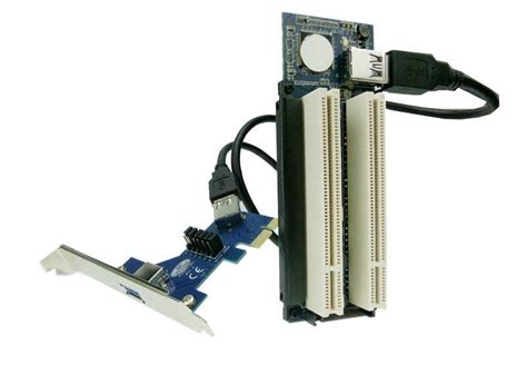 Pci E To 2 Pci Dual Converter Adapter Pcie Konverter pci express xie to i adapter router dual pci slot riser