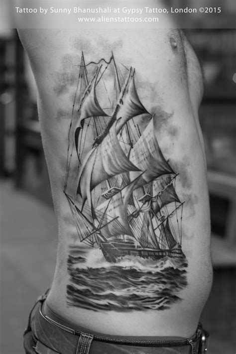 pirate ship tattoo by sunny at gypsy tattoo emporium london