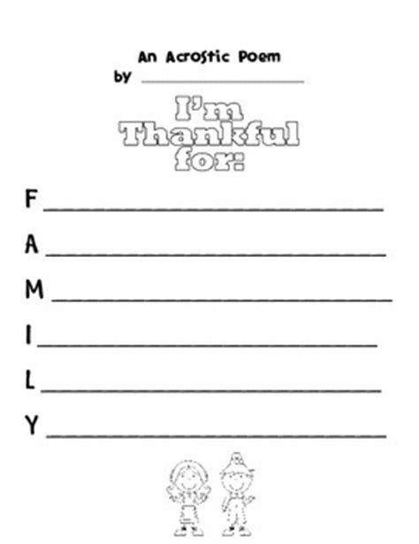 Thanksgiving Acrostic Template by 17 Best Images About Fifth Grade On Coloring