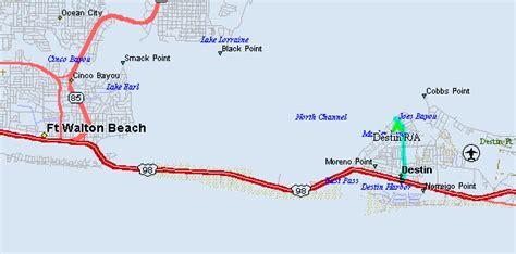 map of destin florida area destin rec boat rental boat rentals