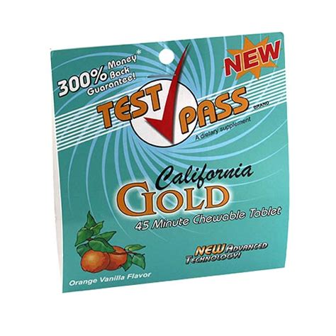 California Gold Detox by California Gold Chewable Tablet From Test Pass