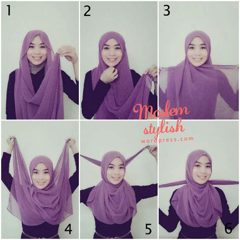 video tutorial hijab modern simple hijab styles step by step simple www imgkid com the