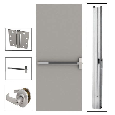 l i f industries 36 in x 84 in flush gray steel