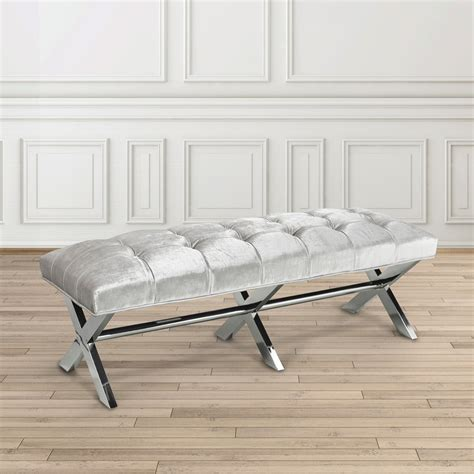 grey bench lauren grey velvet bench xcella