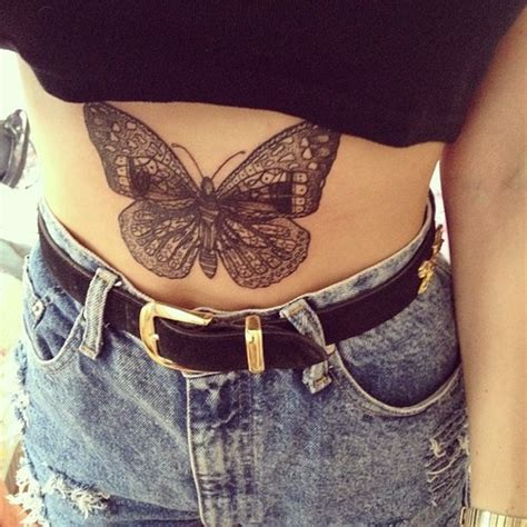 Tattoo Butterfly Belly | 15 attractive stomach tattoo designs for men and women