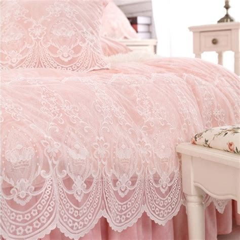 Shabby Home Decor Pink Lace Table Cloth 70120 Taplak Meja lace bedding