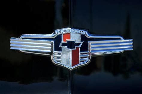 1942 chevrolet emblem photograph by jill reger