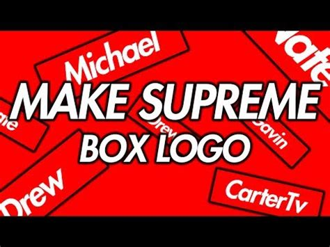 Supreme With Your how to make your own supreme logo clothes design