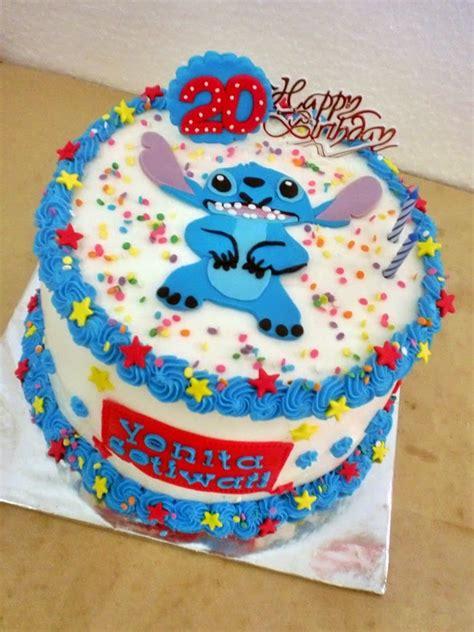 luch luch cake kue tart lilo stitch buttercream daerah