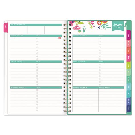 2018 planner organizer weekly monthly pink blue marble ink gold lettering organizer for high school college and students 2018 planners and organizers for 2018 books day designer cyo weekly monthly planner by blue sky