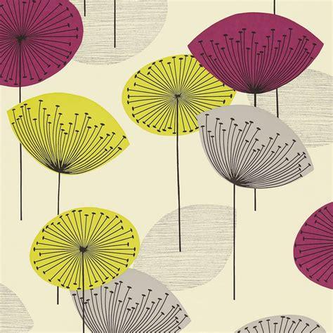 Ralph Lauren Home Decor Fabric by Dandelion Clocks Wallpaper Blackcurrant Dopwda102