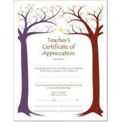 Certificate Of Appreciation For Teachers Template sle certificate of appreciation for teachers just b cause