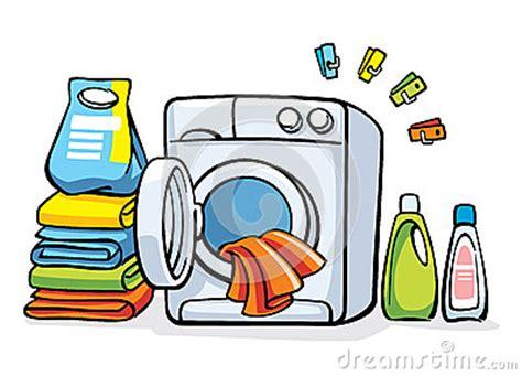 tarjetas electronicas de lavadoras m 225 quina de la lavadora con ropa ilustraci 243 n del vector