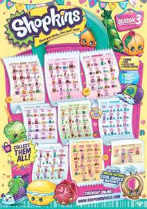 The shopkins checklists and save them if you d like to print them out