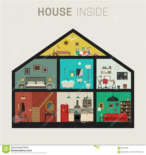 house interior vector house inside interior stock vector image 63913880