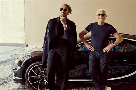 future rapper bugatti future meets giorgio armani for the first time in a