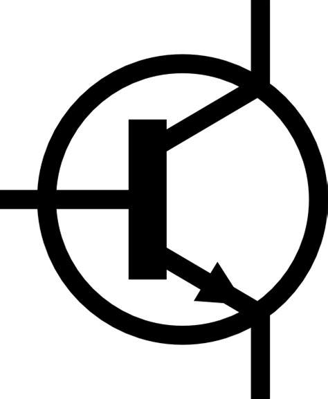transistor vector npn transistor symbol clip free vector 4vector