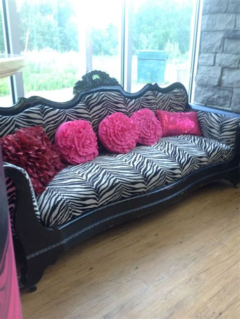 zebra couch zebra black and white furniture couch vintage waiting