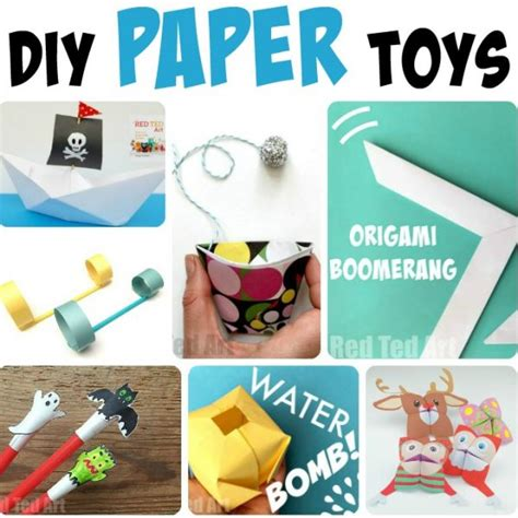 How To Make Easy Paper Toys - diy paper toys ted s
