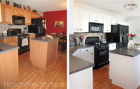cheap kitchen makeover ideas before and after do it herself upgrading your space with budget friendly