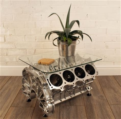 Engine Glass Coffee Table Funky V8 Engine Glass Coffee Table 163 599 99 Groovy Home Funky Contemporary Furniture