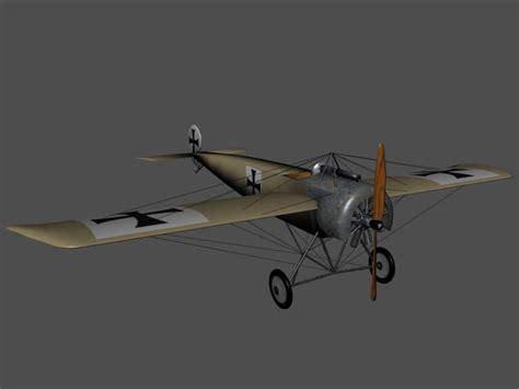 Fokker E III Eindecker free 3D Model Game ready .blend