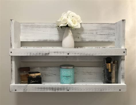 breathtaking distressed white wood shelf decorating ideas rustic white distressed wood bathroom shelf farmhouse decor