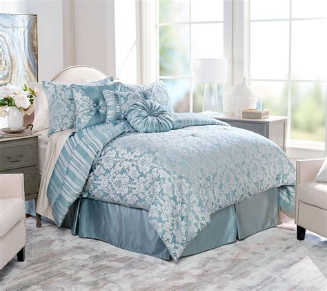 qvc bedding comforter sets northern nights jacquard reversible 7 piece full comforter