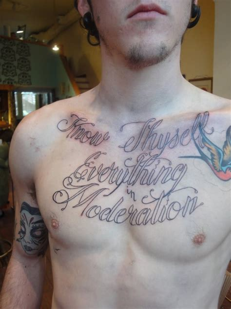 Chest Tattoos For Men Freedom Of Art Tattoos Blog Chest Quote Tattoos For