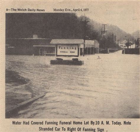 flood of april 1977 fanning funeral home in welch wv
