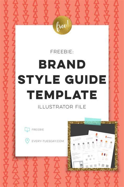 Freebie Brand Style Guide Template Every Tuesday Brand Style Guide Template