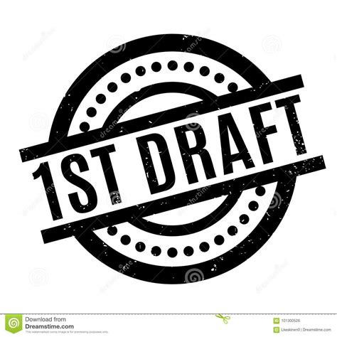 create rubber st 1st draft rubber st stock vector image 101300526