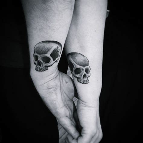 matching skull tattoos for couples 27 best his and hers images on his and
