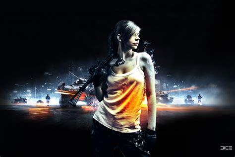 wallpaper gamer girl battlefield game girl soldier poster wallpaper best hd