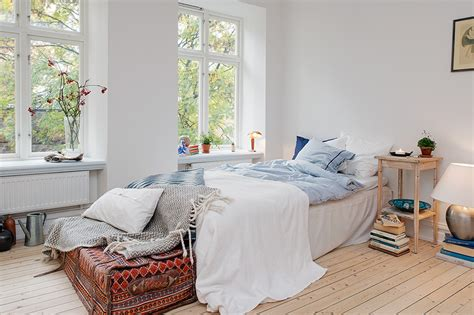 swedish bedroom soothing ambience inspired by small one room apartment in