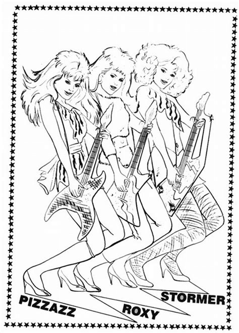 coloring book jem e le holograms