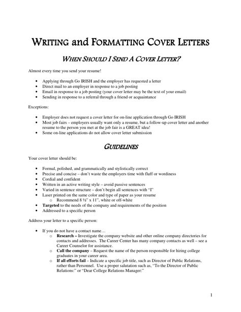 guide to cover letters cover letter guide